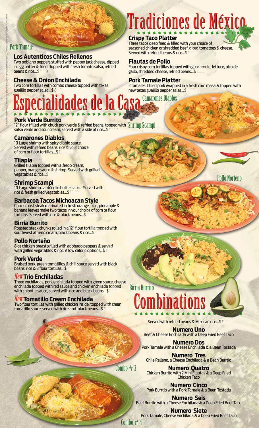 cilantros food and drink menu