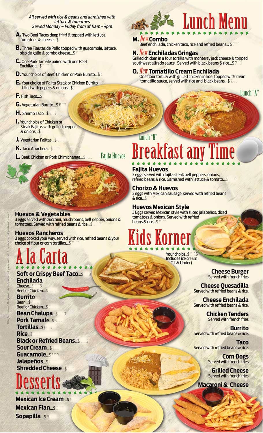 cilantros in omaha's menu